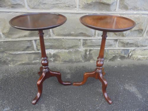 Pair of Antique Mahogany Tripod Wine Tables c.1910 (1 of 1)