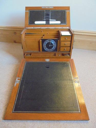 Quality Antique Oak Desk Top Stationery Box C.1900 (1 of 1)