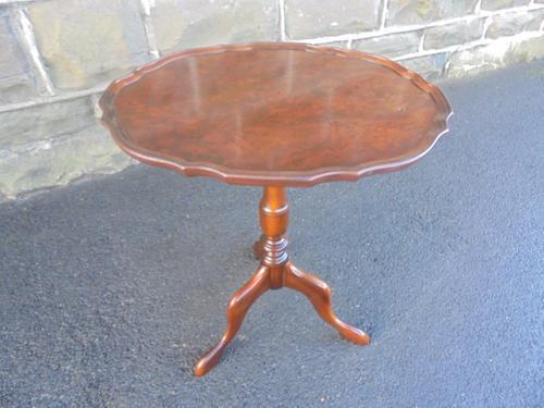 Antique Burr Walnut Tripod Wine Table c.1910 (1 of 1)