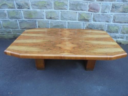 Art Deco Figured Walnut Coffee Table (1 of 1)
