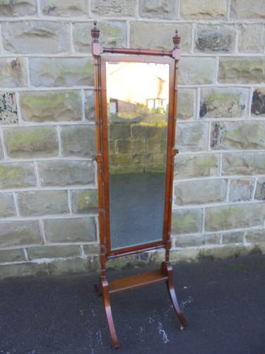 Antique Mahogany Cheval Dressing Mirror C.1900 (1 of 1)