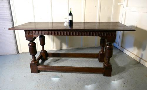 Arts & Crafts Gothic Carved Oak Table (1 of 11)
