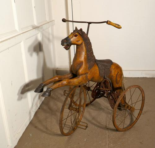 20th Century Copy of a Victorian Toy Tricycle Pedal Horse (1 of 8)