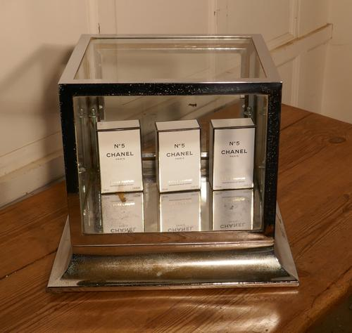 Art Deco Chrome & Glass Cabinet (1 of 8)