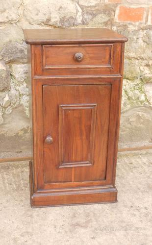 French Chestnut Bedside Cupboard or Night Table (1 of 4)