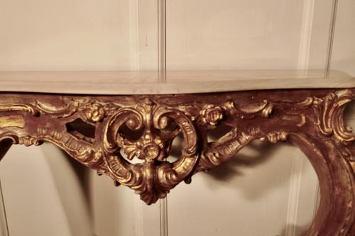 Old French Gilt Console or Hall Table (1 of 6)
