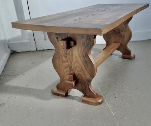 A Chunky Solid Elm Farmhouse Coffee Table (1 of 5)