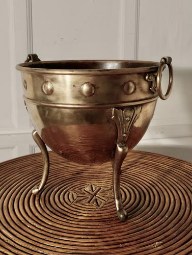 Brass Arts and Crafts Jardiniere by Henry Loveridge (1 of 8)