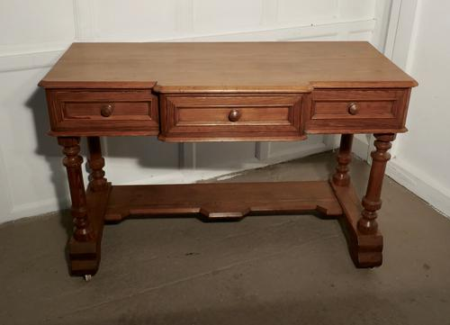 Arts and Crafts Pitch Pine Writing Table (1 of 7)