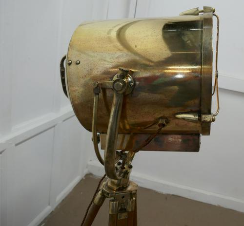 Very Large 19th Century Vintage Nautical Search Light or Spot Light by G Vieira (1 of 13)