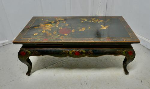 Painted & Lacquered Chinoiserie Coffee Table (1 of 7)