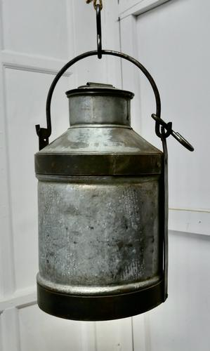 Large 19th Century Galvanised Metal Milk Churn with Iron Strapping (1 of 6)