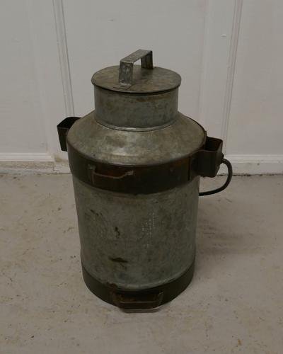 19th Century Galvanised Metal Milk Churn with Iron Strapping (1 of 4)