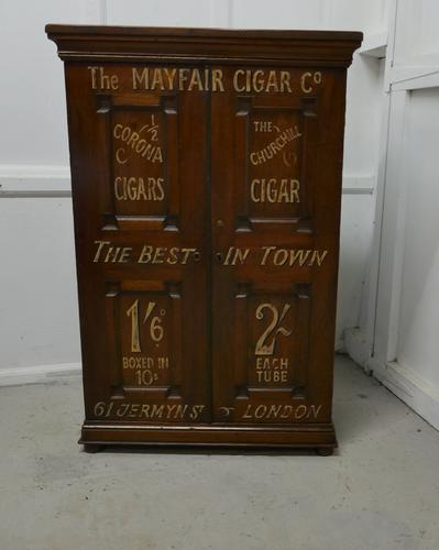 Victorian Humidor Painted For Cigar Store Display (1 of 9)
