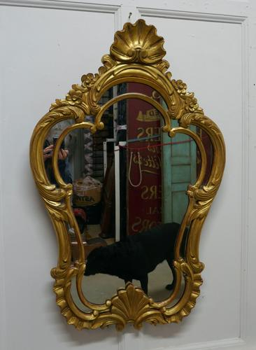 19th Century French Gilt Console Mirror (1 of 6)