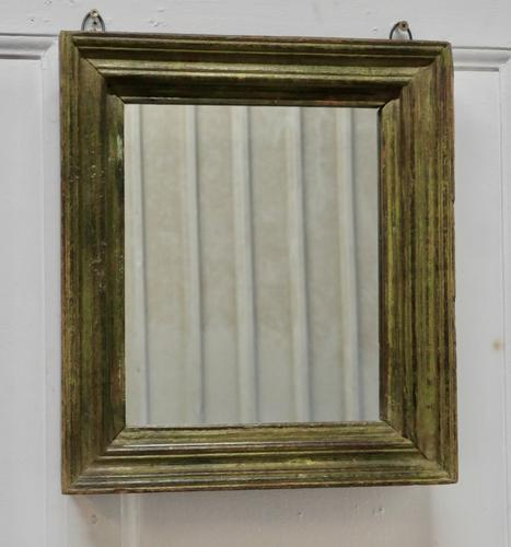 19th Century French Wall Mirror with Old Painted Frame (1 of 4)