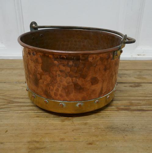 Beaten Copper & Brass Bucket Planter (1 of 4)