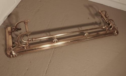 Large Victorian Art Nouveau Brass Fender (1 of 1)