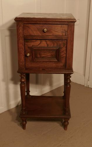 French Elm Night Table or Bedside Cupboard (1 of 4)