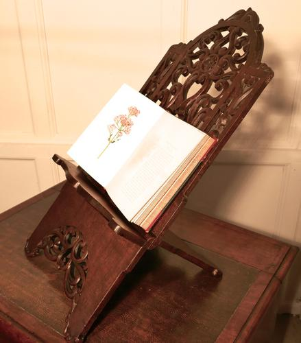 Very Large French Arts and Crafts Book Rest, Ecclesiastical Reading Stand, Lutrin (1 of 1)