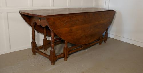 Large Yew Gateleg or Wake Table from the Channel Islands (1 of 1)