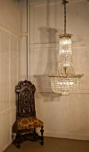 Ginormous French Empire Style Tent & Bag Crystal Chandelier (1 of 1)