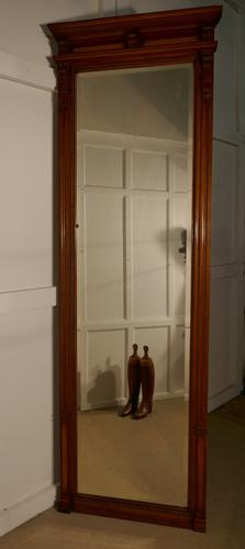 Very Tall French Carved Walnut Wall Mirror / Pier Mirror (1 of 1)