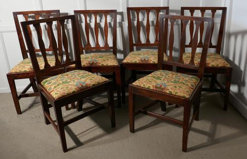 Set of 6 Georgian Elm Country Dining Chairs (1 of 1)