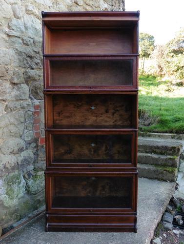 5 Stack Waterfall Oak Globe Wernicke Barristers Bookcase or Filing Cabinet (1 of 1)