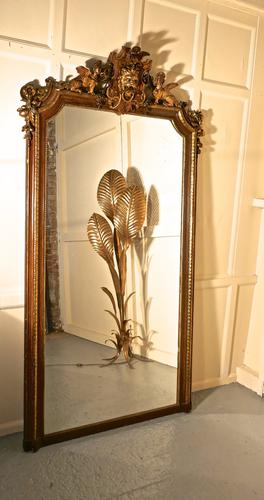 Very Large French Mirror, Winged Sphinx & Lyons Mask Crest (1 of 6)