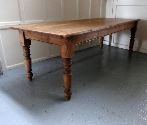 Large French Farmhouse Pine Table (1 of 1)