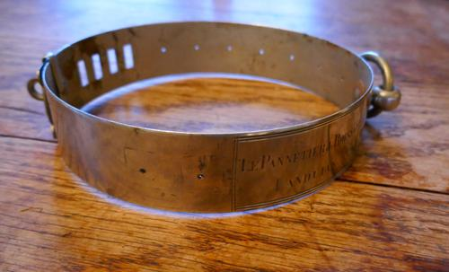 Important 19th Century French Nickel Silver Hunting Dog Collar, Engraved Provenance (1 of 9)