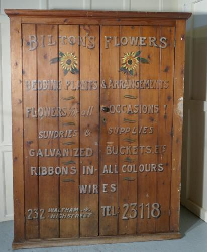Victorian Painted Cupboard, Florist Flower Shop Supplies, Waltham London (1 of 1)
