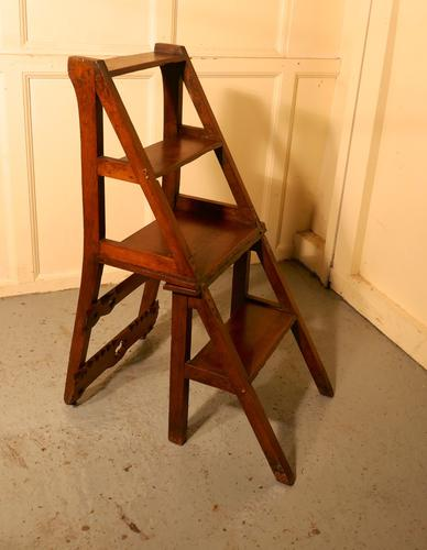 Arts & Crafts Metamorphic Kitchen Chair / Library Steps (1 of 1)
