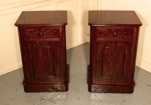 Pair of Victorian Mahogany Bedside Cupboards (1 of 1)
