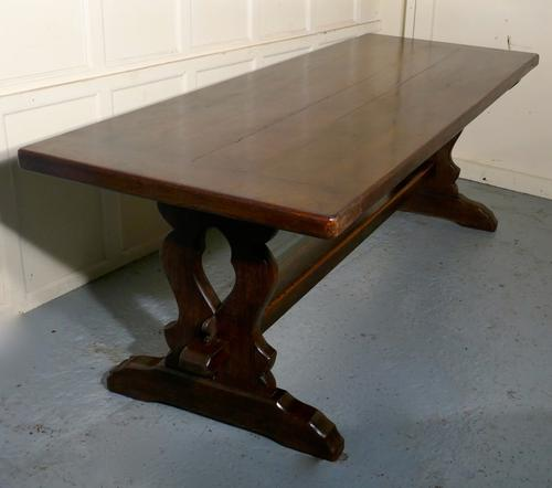 Large French Oak Refectory Monastère Table (1 of 1)