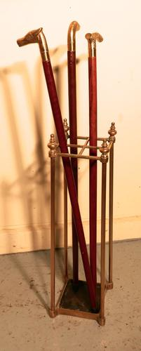 Victorian Brass & Cast Iron Walking Stick Stand or Umbrella Stand (1 of 1)