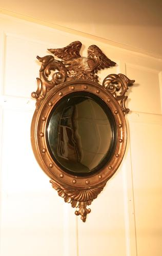 Large Regency Convex Gilt Wall Mirror (1 of 1)