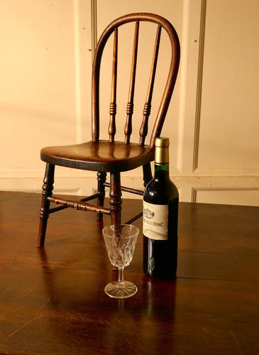 19th Century Miniature Beech & Ash Hoop Back Kitchen Chair (1 of 8)