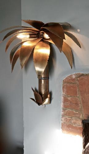 French Palm Tree Wall Light from Maison Jansen (1 of 1)