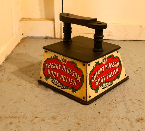 Cherry Blossom Boot Polish Advertising Shoe Cleaning Box & Shoe Rest (1 of 1)