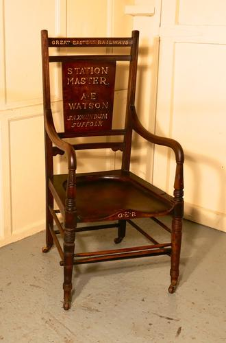 Great Eastern Railways Station Masters Chair Carver Chair (1 of 1)