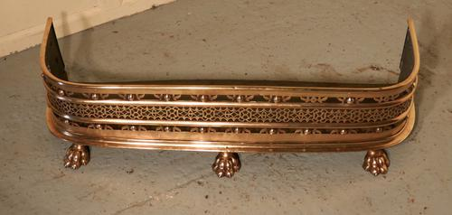 Fine Quality Victorian Pierced Brass Fender (1 of 1)
