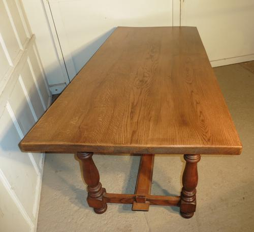 French Golden Oak Farmhouse Table c.1920 (1 of 1)