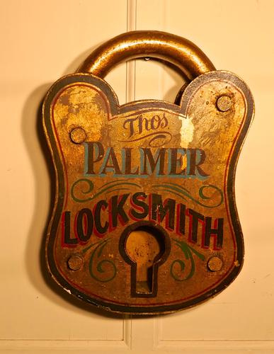 Large Locksmith Shop Trade Sign (1 of 1)