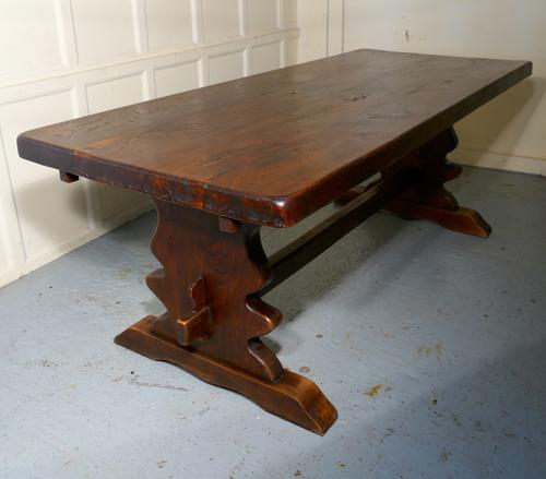 Large French Elm Refectory Extending Table (1 of 1)