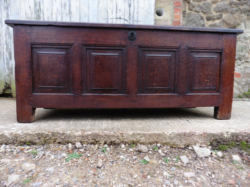 Very Large 17th Century  Oak Coffer (1 of 1)