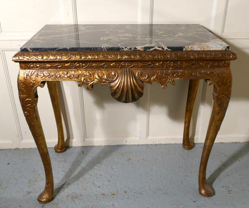 Old French Marble Top Gilt Console or Hall Table (1 of 1)
