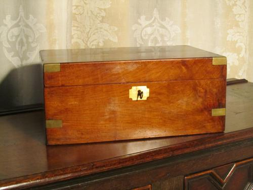 Victorian Walnut Lap Desk or Writing Slope (1 of 1)