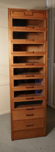 Vintage Art Deco Tall Haberdashery Cabinet, Shop Fitting (1 of 1)